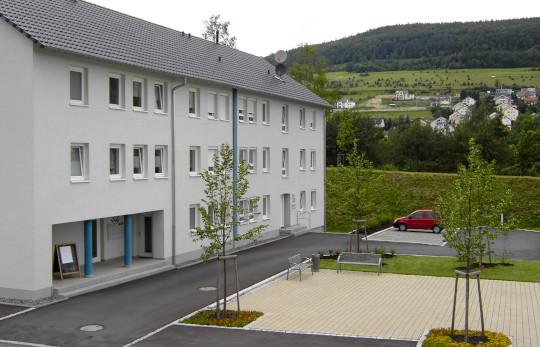 Das Gebäude im Weiherwuhr 32/34 nach der Sanierung