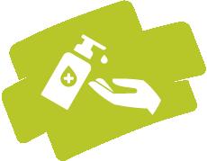 Hygienevorgaben zu Corona: Händedesinfektion