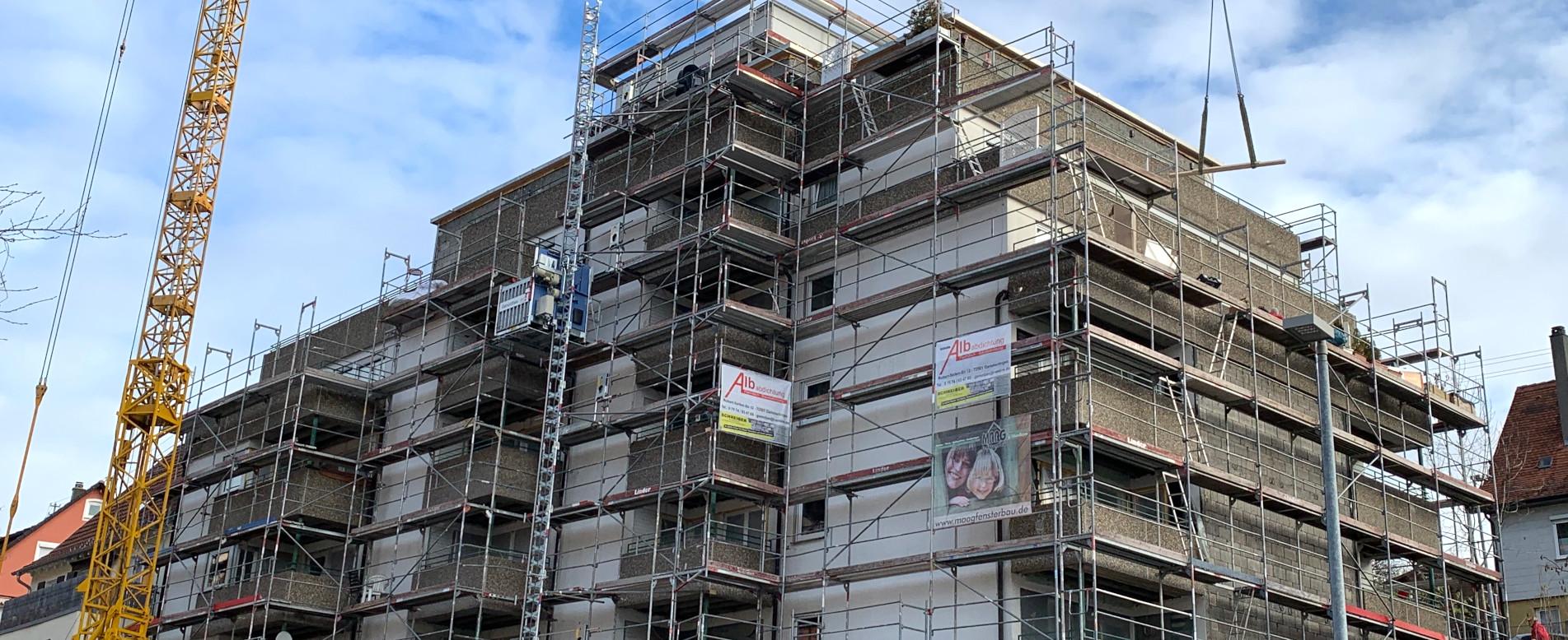 Energetische Sanierung der Seniorenwohnungen in der Klarastraße 30